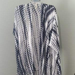 Tie dye ruana/scarf/sarong
